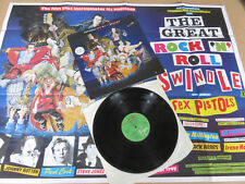 SEX PISTOLS The Great Rock 'N' Roll Swindle ORIGINAL A1 / B1 UK LP & RARE POSTER