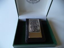 men's money clip black leather Irish Celtic made in Ireland Mullingar Pewter