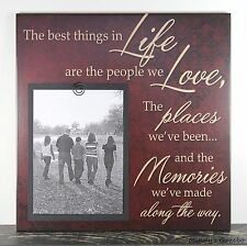 RUSTIC HANDMADE WOOD FAMILY LOVE 5 X 7 PICTURE FRAME PHOTO SIGN HOME DECOR 1031