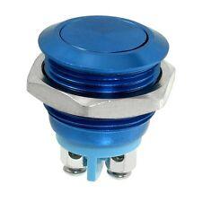 SODIAL (R) 16 mm Einbau Momentan SPST Edelstahl Runde Drucktaste Schalter - R3Y5