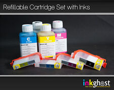 4 x HP 920 Refillable Cartridges Plus 4 X 100ml refill inks HP 920 HP 564