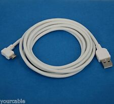 2M Fast Charger ONLY Right Angle Micro USB Cable WHITE for Android phone tablet
