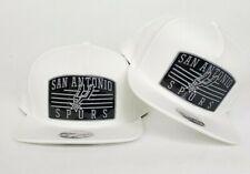 Mitchell & Ness White San Antonio Spurs snapback hat