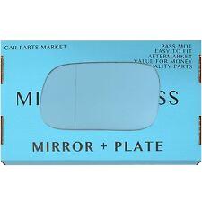 Left side Wide Angle Blue Wing mirror glass for Subaru Impreza 97-07 + plate