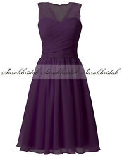 Short/Mini Navy Lace Formal Bridesmaid Wedding Dresses Women Prom Evening Gown 2