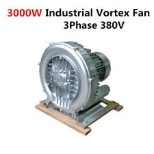 3000W High Pressure Vortex Fan Industrial Air Blower Vacuum Pump 3 Phase 380V
