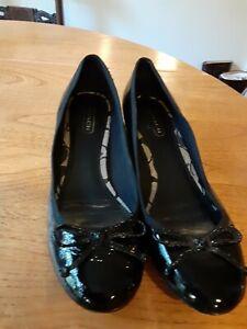 Coach Black Patent Leather Shoe 8M