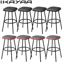 iKayaa Set of 2/4 Metal Pub Bar Stools Counter Kitchen Dining Chairs Heavy-Duty