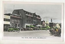 COLORED RPPC Royal Anne Hotel KELOWNA BC British Columbia Real Photo Postcard