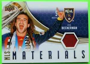 KYLE BECKERMAN JERSEY 2010 MLS MATERIALS UPPER DECK REAL SALT LAKE 1-OWNER