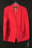 Red Blazer Jacket - Requirements - Size 10 - New With Tag - Machine Washable