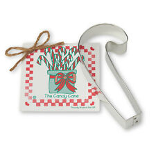 NEW Ann Clark Tin Christmas Candy Cane Cookie Cutter w Recipe Attatched Made USA