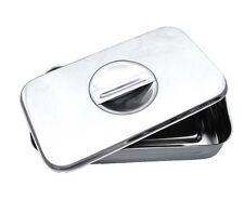 Instrumenten Box mit Deckel u. Griff Edelstahl Geschirr Fußpflege Aufbewahrung