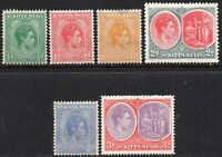1938 St Kitts-Nevis Sg 68/73 Short Set of 6 Values Mounted Mint