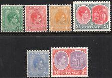 More details for 1938 st kitts-nevis sg 68/73 short set of 6 values mounted mint