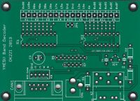 Automatic 16-outputs band decoder (YAESU,Microham, Elecraft K3) leiterplatte