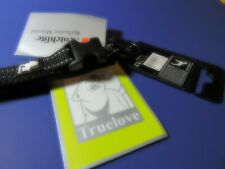 "Truelove 3M Scotchlite Reflective Black Dog Collar Size XS 11.0"" - 11.8""  NEW"