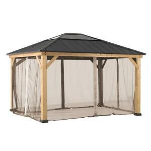 Sunjoy Universal Mosquito Netting for 10 ft. × 12 ft. Wood Gazebos