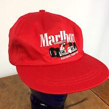 e3d57382dce NWOT Marlboro Indy Car Racing Trucker Snapback Hat Adult Men s Red Cap RARE  NOS