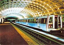 Washington Dcspacious Metro Stations Opened In 1976~Sleek~Quiet~Trains Postcard
