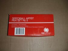 Vintage Hunt Speedball No 5 Artist Pen Set Nibs Calligraphy Box Inserts 3065