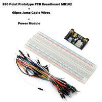 Neuf MB102 plaque d'essais prototype 830 points - breadboard PCB + Power Module