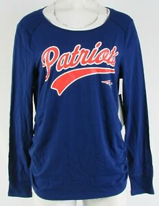 New England Patriots NFL Touch Women's Long-Sleeve Maternity Shirt