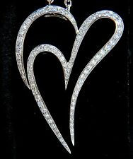$8000 3.00ct ROUND DIAMONDS MODERN SWIRL HEAR PENDANT G / VS 14KT & CHAIN RARE