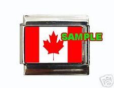 Canadian Flag Custom Italian Charm Canada