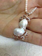 silver pendant pearl necklace italian