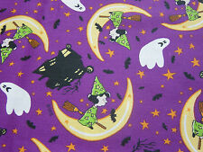 Peanuts Snoopy Halloween Lucy Purple Moon Ghost Fabric 13 Inches x 44 Inches