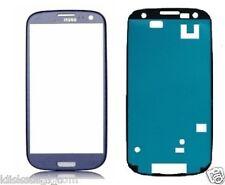 Für Samsung Galaxy S3 i9300 i9305 LCD Glas Touchscreen Front Glass BLAU + Kleber