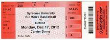 Jim Boeheim 900th Win Victory Syracuse University 12/17/12 Unused Ticket