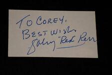 "HOF JOHNNY ""RED"" KERR SIGNED AUTOGRAPHED INDEX CARD BULLS JSA CERTIFIED"