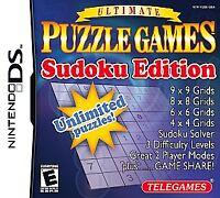 Ultimate Puzzle Games -- Sudoku Edition (Nintendo DS, 2007) NEW (E2)