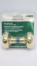 """Gatehouse Passage Door Knob Set Entry 2-3/16"""" in. Brass-plated steel"""
