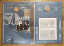 Numisblatt 1 / 99 50 Jahre Grundgesetz DM 10 Silber Gedenkmünze in Bestzustand