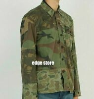 Polo Ralph Lauren Military USA Army Camo Soldiers Fatigue Patchwork Shirt Jacket