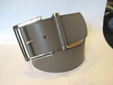 NEW Ladies Taupe Banana Republic Tan/Gray Leather Belt SZ Small S Made Italy