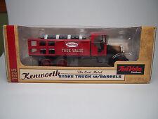 ERTL Die Cast 1925 Kenworth True Value Hardware Stake Truck Bank w Barrels MIB