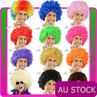 Mens Ladies Funky Afro Wig Adult 1970s 70s Disco Party Curly Costume Clown Wigs