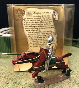 CBG Mignot Set# 204 Knight on Horse (14th Century) Metal Toy Soldier 54mm scale