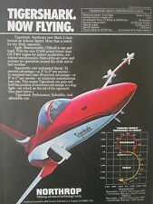 9/1982 PUB NORTHROP F-20 TIGERSHARK TACTICAL AIR DEFENSE FIGHTER ORIGINAL AD