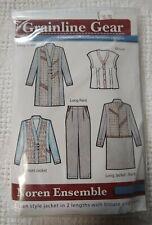 Grainline Gear Noren Ensemble # 1522 Casual Wearable Art Sewing Pattern XXS-3XL