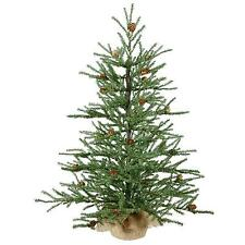 "Vickerman - 2.5' X 21"" Carmel Pine Artificial Christmas Tree With Pine Cones In"