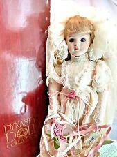 """Dynasty Bride 17"""" Porcelain Doll Lace Veil Rose Musical """"We've Only Just Begun"""""""