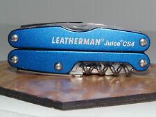 LEATHERMAN JUICE CS4 MULTI-TOOL BLUE  EXCELLENT CONDITION **SANITIZED**