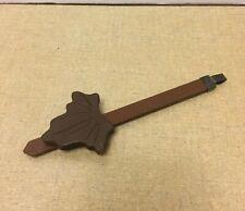 "Vintage Germany Cuckoo Clock Parts Wooden Pendulum w/Leaf 5 7/8"" Long"