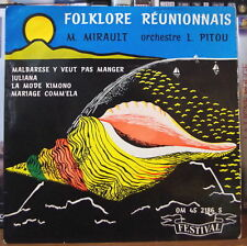 ORCHESTRE L. PITOU M. MIRAULT FOLKLORE REUNNIONAIS N°9 SEGAS FRENCH EP FESTIVAL