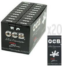 1 Box OCB Premium Black Ultra (extra) Slim Cigarette Filter Tips ( 2400 tips)